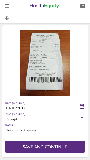 Upload A Receipt To The Mobile App